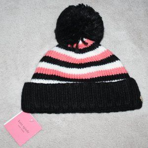 KATE SPADE NY HERITAGE STRIPE BEANIE Women's Hat